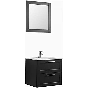 Badezimmermöbel Waschplatz Set ● matt grau ● Keramik ...