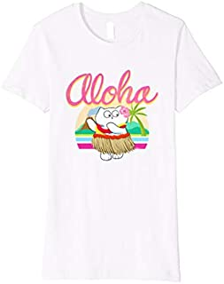 Womens Hula Kitty- Fun cat shirts women- Hawaiian Kitty- Meme Cat T-shirt | Size S - 5XL