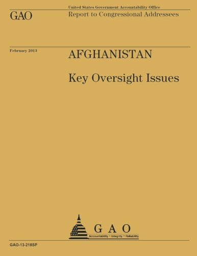 Report to Congressional Addressees Afghanistan Key Oversight Issues pdf