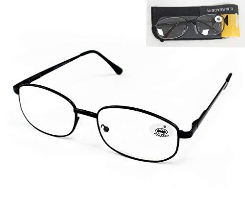 Pack de 4 Gafas de Lectura Vista Cansada Presbicia, Graduadas Dioptrías +1.00 hasta +4.00, Gafas de Hombre y Mujer Unisex con Montura Fina, Bisagras ...