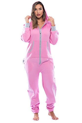 #followme 6438-PNK-S Adult Onesie Pajamas Jumpsuit]()
