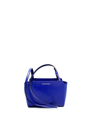 Grain Handbag Emporio Logo Negro Armani Mujer Cuoio Blu EnEwqPCR