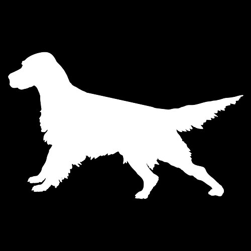 Express Yourself Products English Setter Ready (White - Reverse Image - Large) Decal Sticker - Hunting Dog Collection ()