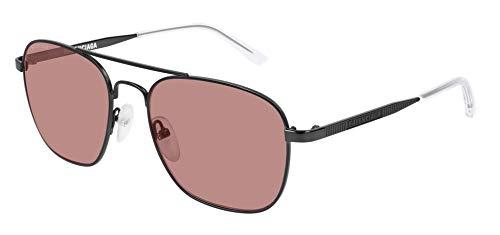 Balenciaga BB0037S Sunglasses 003 Grey/Brown Glass Lens 55 mm