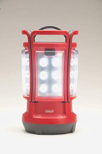 - Coleman Quad LED Lantern Special Edition Ultra Bright 190 Lumens, Red (Renewed)