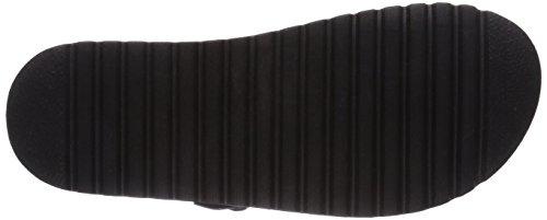 black softwaves mujer zuecos sintético de 097 negro multi 274 Schwarz material w8qaH