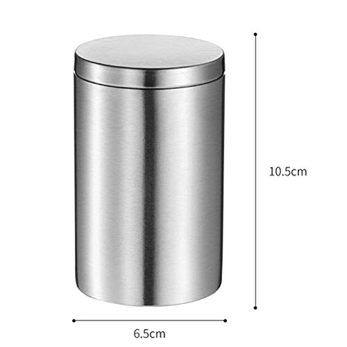 - LinSHdi426 Cylindrical Stainless Steel Cigarette Casear,Tea Canister Sealed, Cigarettes Storage Box for Outdoor or Travel