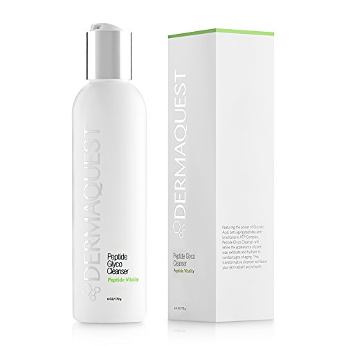 (DermaQuest Peptide Vitality Creamy Peptide Glyco Cleanser - Reducing Inflammation & Signs of Aging Exfoliating Face Wash with 15% Glycolic Acid, 6 oz )