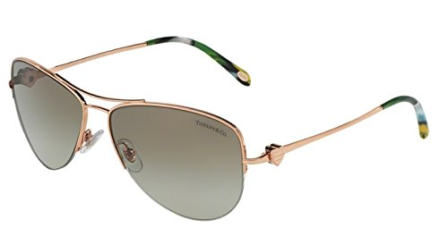 bcf711d1e24 Tiffany   Co. TF3021 61053M 60mm Rose Gold   Green Gradient Sunglasses