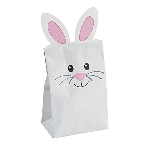 Easter Bunny Paper Treat Bag for Easter - 12 Pieces]()