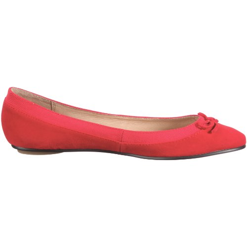 Buffalo London 207-3562 - Bailarinas de ante para mujer Rojo