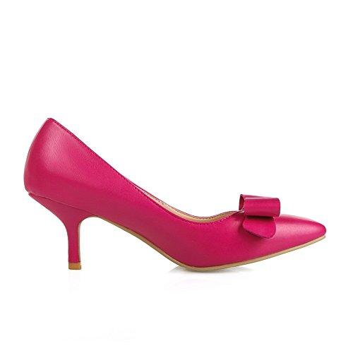 BalaMasa da donna in microfibra high-heels pumps-shoes, Rosso (RoseRed), 38