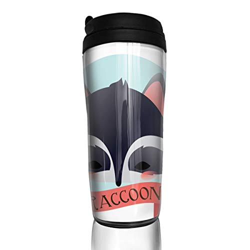 Coffee Mug Raccoon Travel Tumbler Insulated Leak Proof Drink Containers Holder Great 12 Ounces