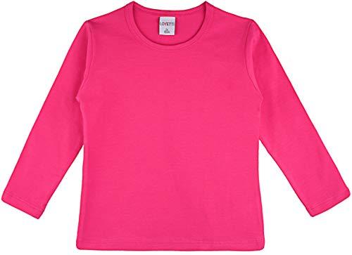 Lovetti Girls' Basic Long Sleeve Round Neck T-Shirt 12 Hot -