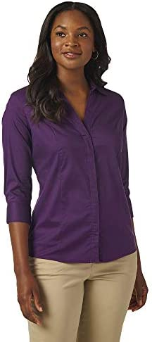 Riders by way of Lee Indigo Women's Easy Care ¾ Sleeve Woven Shirt