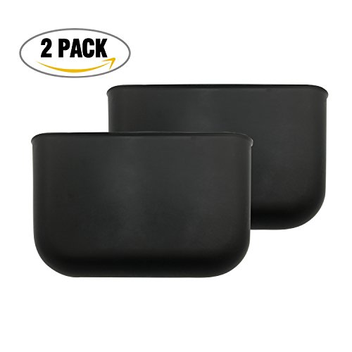 Price comparison product image 2 pcs Car Hanging Trash Can Auto Garbage Litter Bin Bag Organizer Storage Holder (Black)