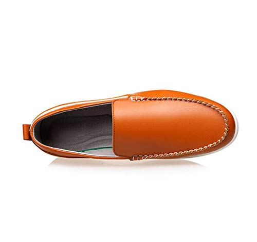 Al De Antideslizante Suela Resistente Transpirables Casuales Yellow Goma Zapatos Lqv Ayuda Hombres Cuero Pies Nuevos Desgaste Huecos Baja Juego 6x11aB