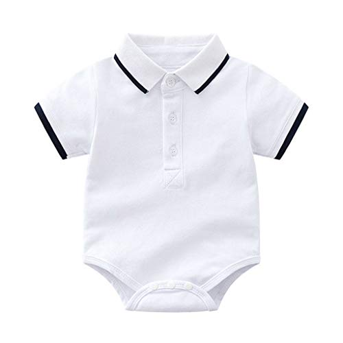 d283da52d Cuekondy 3-24 Months Newborn Toddler Baby Boy Summer Gentleman Clothes  Outfit Short Sleeve T