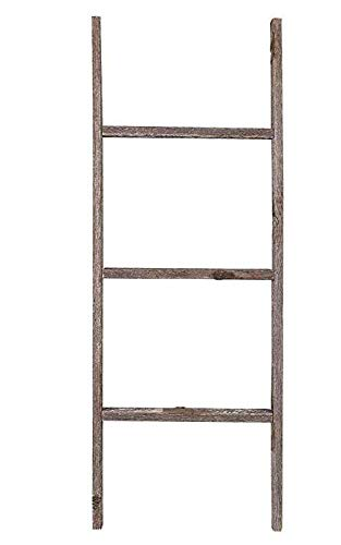 Farmhouse Style Ladder Made from Reclaimed Wood - Decorative Ladder for Hanging Blankets or as Shelving for Walls…
