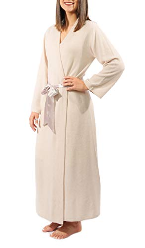 Gigi Reaume 100% Cashmere Women's Robe, Kimono Wrap Style...