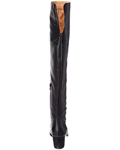 Corso Como Womens Hoboken Over The Knee Boot, 9 M Us, Black Pebble Leather