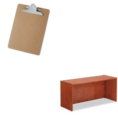 KITALERN256624CMUNV40304 - Value Kit - Best Verona Veneer Series Credenza Shell (ALERN256624CM) and Universal 40304 Letter Size Clipboards (UNV40304) by Best