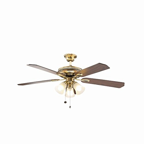 Hampton Bay Glendale 52 in. Flemish Brass and Gold Ceiling Fan - Gold Finish Ceiling Fans