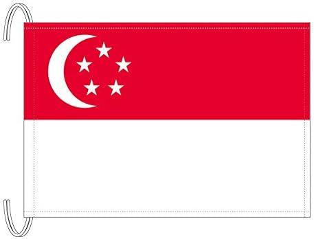 テトロン製 シンガポール国旗(M判・34×50cm)