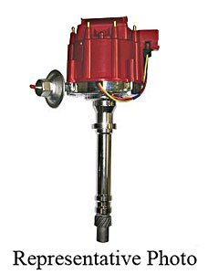 Taylor Cable 650000 Blueprint HEI Distributor Incl. Polished Housing/Shaft/Bushings/Volt Coil w/Dust Cover/Module/Distributor Cap/Rotor w/Brass Terminals Blueprint HEI - Cap Incl Distributor