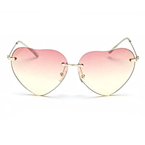 My.Monkey 2016 New Retro Fashion Womens Heart-shaped Wayfarer Sunglasses(C7)
