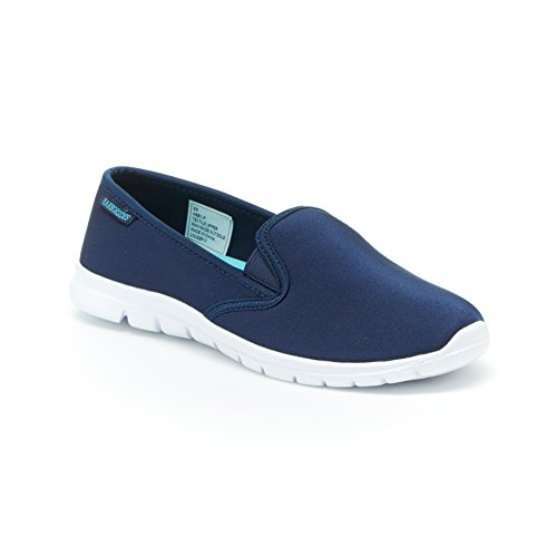 Harborsides Abby Sneaker-Slip-On Comfort Athletic Shoes, Memory Foam Insole, Navy, 6 B(M) US