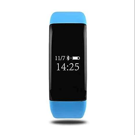 Portátil Actividad tracker - Podómetro, frecuencia cardíaca Tensiómetro, contador de calorías, dormir Análisis, Remote Shoot, Reloj despertador para Android ...