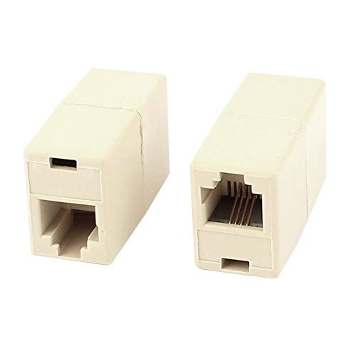 uxcell 2 Pcs RJ11 6P4C Female to Female Telephone Line Connector Coupler