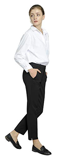 Marycrafts Women's Work Ankle Dress Pants Trousers Slacks ,Medium,Black 2 by Marycrafts (Image #4)