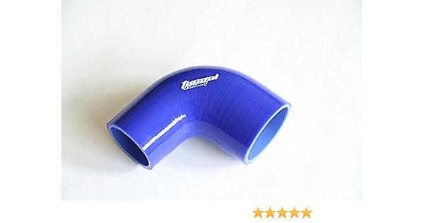 color negro Codo de silicona de 90 grados Turbo y refrigerante reforzado para manguera 65 mm