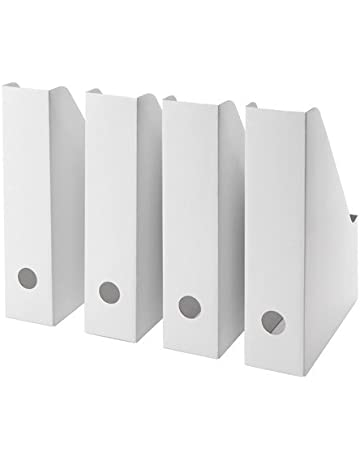 FLUNS IKEA Juego de 4 revistero, en cartón Blanco (Repuesto de FLYT)
