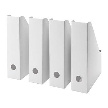 FLUNS IKEA Juego de 4 revistero, en cartón Blanco (Repuesto de FLYT): Amazon.es: Hogar