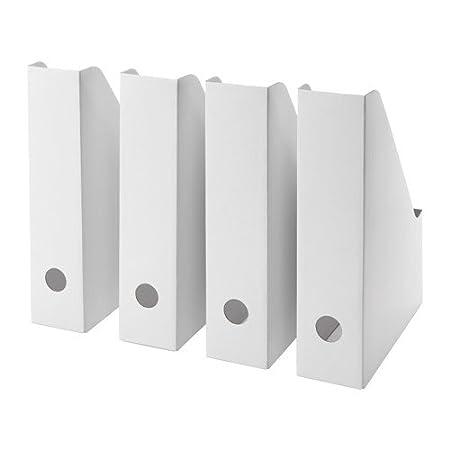 IKEA FLUNS White Magazine File White - Set of 8 003.241.32