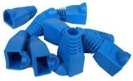 1000 Pcs LOT Black CAT5 CAT5E CAT6 RJ45 8P8C Plug End Boot Cap Snagless