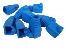 45 Boots Snagless Cat6 Cable - UbiGear LOT Cat5 Cat5e Cat6 Rj45 Plug Connector End Boot Cap Snagless (100 pcs, Blue)