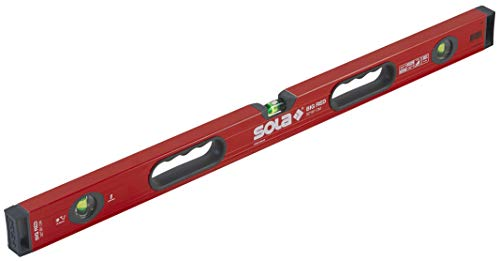 SOLA LSB32 Big Red Aluminum Box Beam Level with 3 60% Magnified Vials, 32-Inch