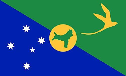 Islands Indoor Flag - DIPLOMAT-FLAGS magFlags Indoor-Flag with Modern Chrome Flag Pole and Marble Base: Christmas Island    Flag Pole Height: 230cm   7.5 ft