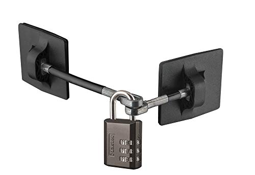 Refrigerator Door Lock with Combination Padlock - Black (Black Combination Lock)