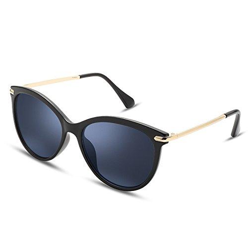 Eye Redonda Rosa Cat Sol Lentes Black Gafas de TL Sunglasses ultraligeras Steampunk qw7XO0