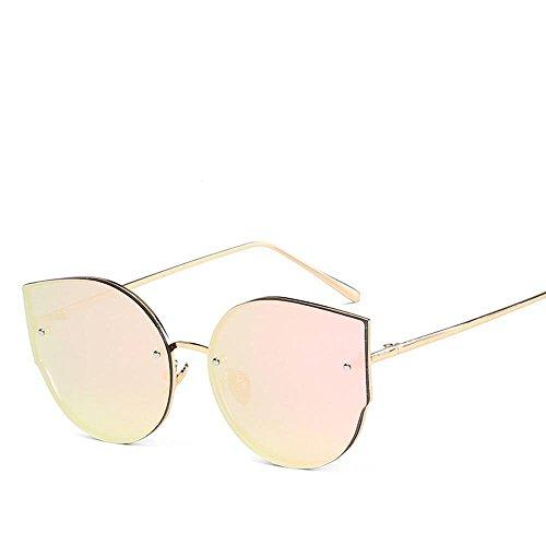 Aoligei Européens et américains de riz clous réflectorisé fashion lady lunettes de soleil lunettes de soleil Fashion en métal F