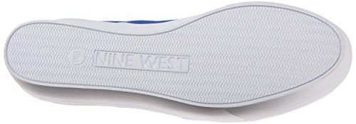 Negen West Womens Hartbreak Nubuck Mode Sneaker Blauw / Wit