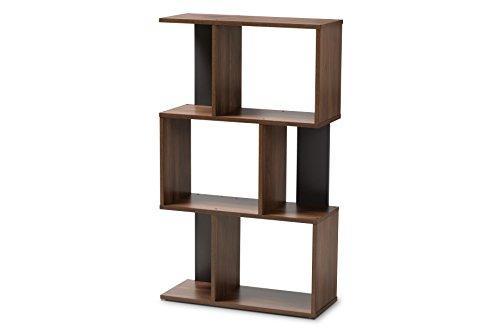 Baxton Studio 148-8257-AMZ Vivace Display Bookcase, Walnut Brown/Dark Grey ()