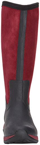 MuckBoots Zip Adventure Boot Maroon Black Snow Women's Artic Suede H4rqHfw