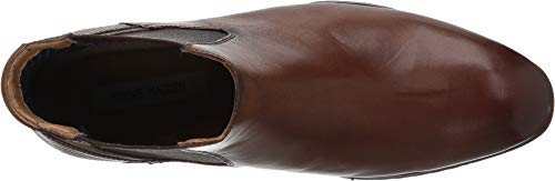 Image of Steve Madden Men's LESTON Chelsea Boot, Cognac Leather, 10 M US