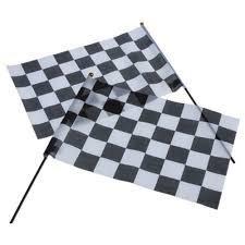 Auto Racing Checkered Flag (Racing Flags/12X18-Cloth (1 Dozen) - Bulk)